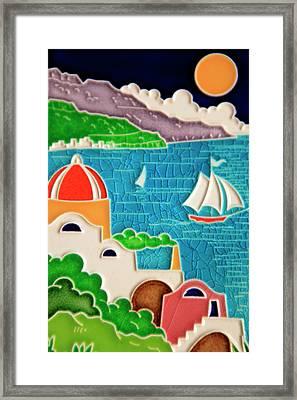 Europe, Italy Italian Hand-painted Framed Print by Kymri Wilt