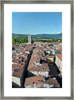 Europe, Italy, Tuscany, Lucca Town Framed Print by Rob Tilley