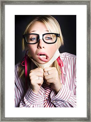 Exhausted Nerd Breaks Free From Silence Framed Print by Jorgo Photography - Wall Art Gallery
