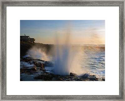 Explosion Framed Print by Mike  Dawson