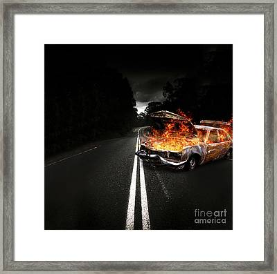 Explosive Car Bomb Framed Print by Jorgo Photography - Wall Art Gallery