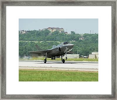F-35b Fighter Jet Framed Print by Us Defense
