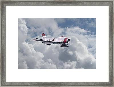 F86 Sabre Framed Print by Pat Speirs