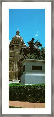 Facade Of The Texas State Capitol Framed Print by Panoramic Images