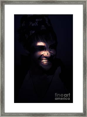 Face Of Horror Terror And Madness Framed Print by Jorgo Photography - Wall Art Gallery