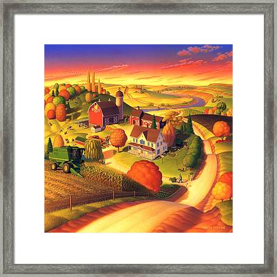 Fall On The Farm  Framed Print by Robin Moline