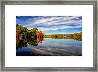 Fall Reflections Framed Print by Tricia Marchlik