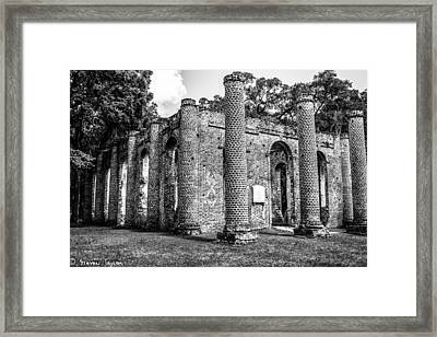 Fallen Church Framed Print by Steven  Taylor