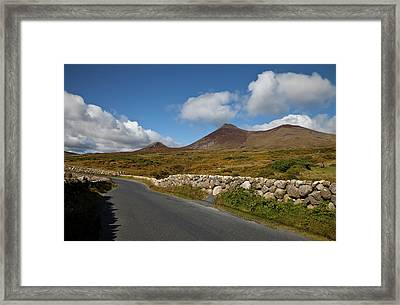 Farmland, Stone Walls In The Midste Framed Print by Panoramic Images