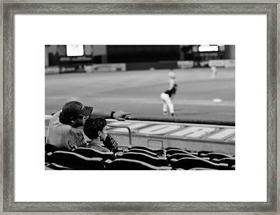 Father To Son Framed Print by Laura Fasulo