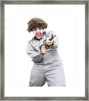 Female Psycho Killer Framed Print by Jorgo Photography - Wall Art Gallery