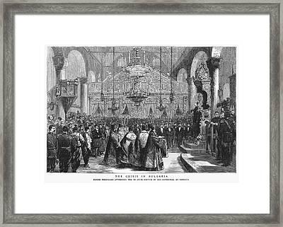 Ferdinand I Of Bulgaria (1861-1948) Framed Print by Granger