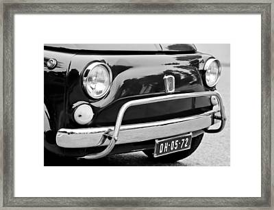 Fiat 500 L Front End Framed Print by Jill Reger