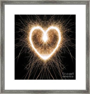 Fiery Heart Framed Print by Tim Gainey