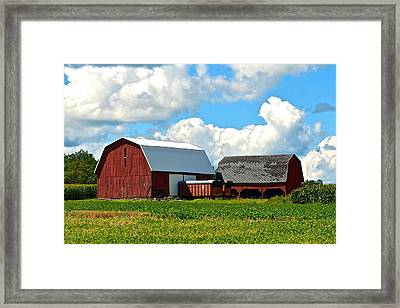 Finger Lakes Farm Framed Print by Frozen in Time Fine Art Photography