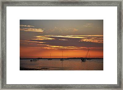 Fire In The Sky Framed Print by Bill Cannon