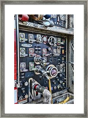 Fireman Control Panel Framed Print by Paul Ward