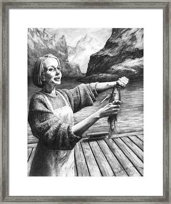 Fish Woman Framed Print by Mark Zelmer