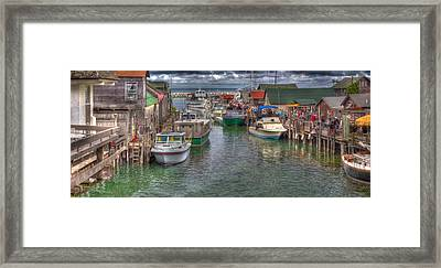 Fishtown In Leland Framed Print by Twenty Two North Photography