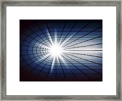 Fissile Detonation Abstract Framed Print by Daniel Hagerman
