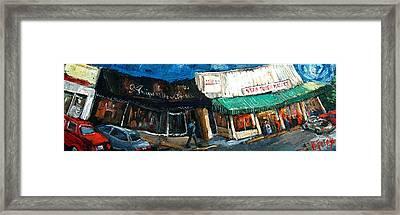 Five Points Huntsville  Alabama Framed Print by Carole Foret
