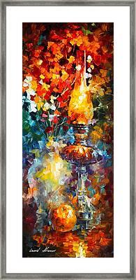Flame Framed Print by Leonid Afremov