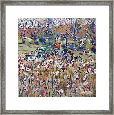 Flight Of The Milkweed Framed Print by Larry Lerew