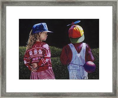 Flirting Framed Print by Gael Graysen
