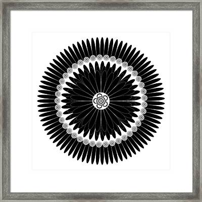 Floral Ornament Framed Print by Frank Tschakert