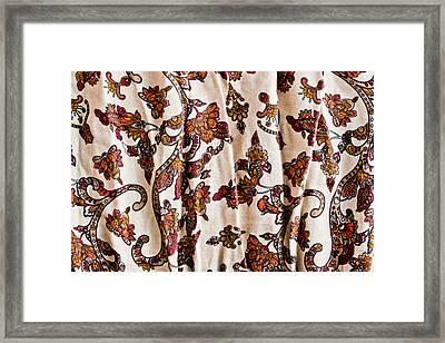 Floral Pattern Framed Print by Tom Gowanlock