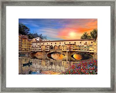 Florence Bridge Framed Print by Dominic Davison
