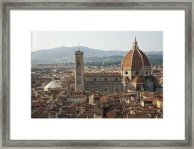 Florence Cathedral And Brunelleschi's Dome Framed Print by Melany Sarafis
