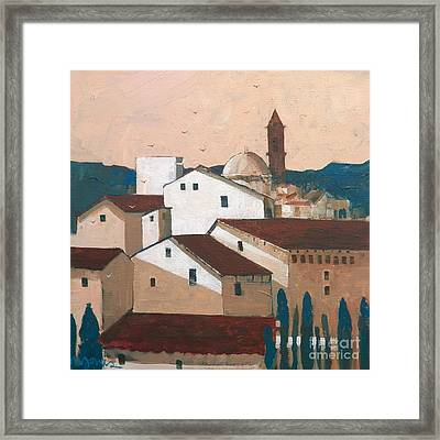 Florence Rooftops Framed Print by Micheal Jones