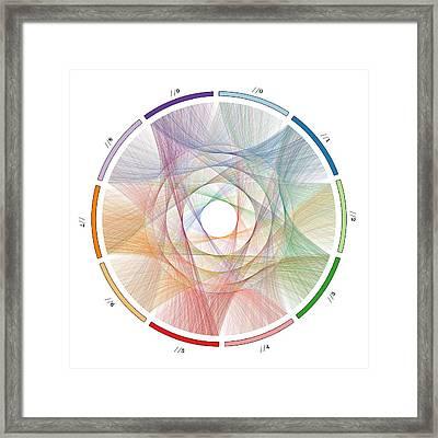 Flow Of Life Flow Of Pi Framed Print by Cristian Vasile