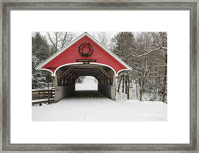 Flume Covered Bridge - White Mountains New Hampshire Usa Framed Print by Erin Paul Donovan
