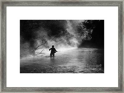 Fly Fishing Framed Print by Iris Greenwell