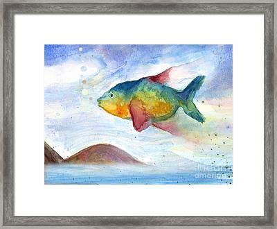 Flying Fish Framed Print by Stella Levi
