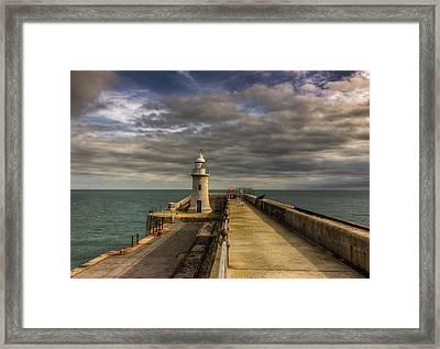 Folkestone Lighthouse Framed Print by Ian Hufton