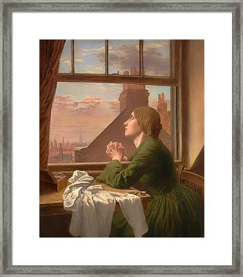 For Only One Short Hour Framed Print by Mountain Dreams
