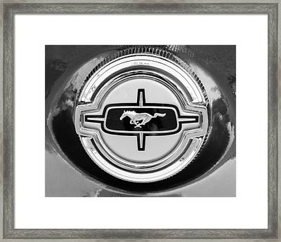 Ford Mustang Gas Cap Framed Print by Jill Reger