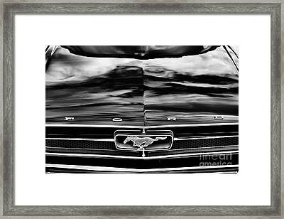 Ford Mustang Monochrome  Framed Print by Tim Gainey