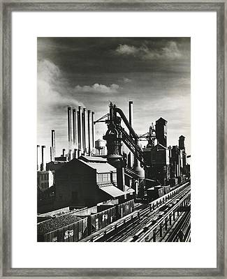Ford's River Rouge Plant Framed Print by Underwood Archives