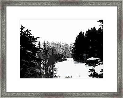 Forest Opening Framed Print by William Tasker
