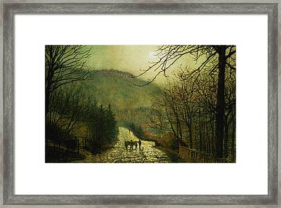Forge Valley Framed Print by John Atkinson Grimshaw