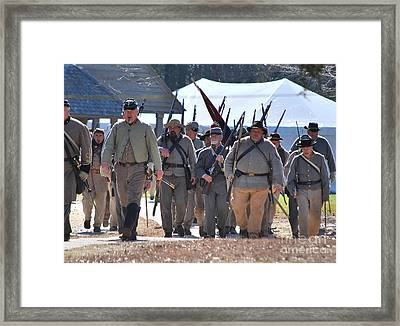 Confederate Army At Fort Anderson  Framed Print by Jocelyn Stephenson