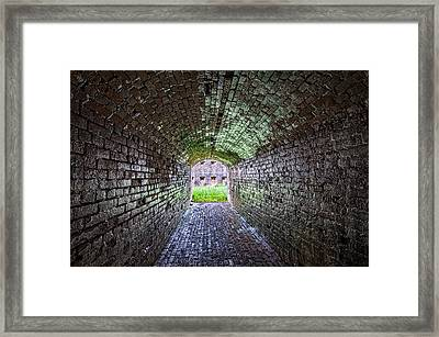 Fort Macomb Tunnel Framed Print by Andy Crawford