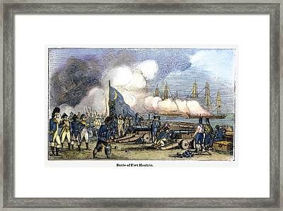 Fort Moultrie Battle, 1776 Framed Print by Granger