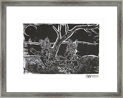 Foxy Night Framed Print by Monica Warhol