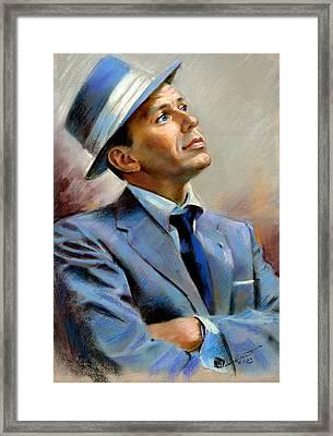 Frank Sinatra  Framed Print by Ylli Haruni
