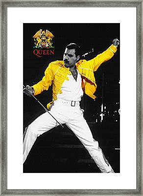 Freddie Mercury Live In Wembley1986    Framed Print by Don Kuing